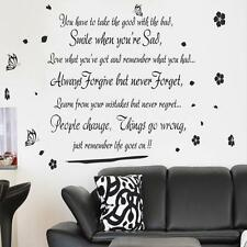 Life Goes On Wall Art Quote Wall Sticker Wall Removeable Decals Home Wall decor