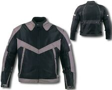 New MESH Gray & Black  600D Duratex  Armored Motorcycle Jacket.. Great Airflow