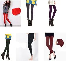Stretch Fleece Lined Thick Tights Brushed Warm Winter Pants Nine Point Leggings