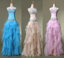 Cheap price HI-Low Formal Evening Gowns Bridesmaid Prom Wedding Party Dresses