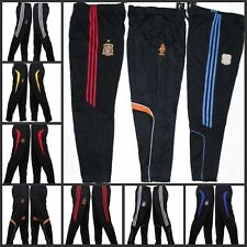 Men's Sport Gym Athletic Soccer Training Sweat Pants Trousers With Team Emblem x