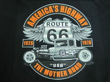 HOT ROD RAT ROD ROUTE 66 5 WINDOW COUPE LOWBOY MOTHER ROAD LONG SLEEVE T SHIRT