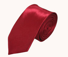 New Men's Solid Color Plain Satin Narrow Arrow Necktie Skinny Tie Neckwear xp