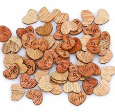 200Pc Love Heart Wood beads charms Appointment For Wedding Decorations, 12x10mm