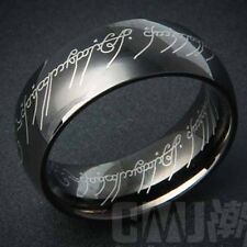 Black Stainless Steel Mens band The Lord of the Ring SZ 8-12# D2061-D2065