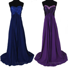 Elegant Formal Bridesmaid Gown Prom Ball Cocktail Evening Party Long Maxi Dress