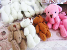 "8 Hand Made Little 1.5"" Craft Teddy Bear Doll/Cute/Baby/Gift/Sew H559-1.5-Color"