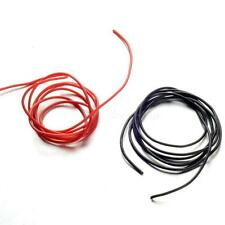 10 12 14 16 20 22 Gauge AWG Black Red 100cm (3.3 FT) Flexible Silicone Wire K0TG