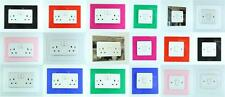 CLASSIKOOL SINGLE OR DOUBLE LIGHT SWITCH PLUG SOCKET WALL SURROUND FINGER PLATE