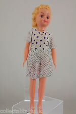 Vintage Evergreen 1960's Doll Clone with Blue Spotty Dress