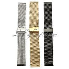 Watch Strap Shark Mesh Chainmail Stainless Steel Men Lady Band Bracelet 18-22mm