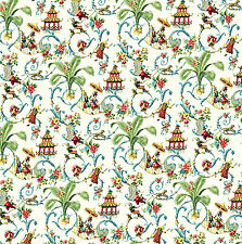 Dolls House Wallpaper 1/12th 1/24th scale Oriental Quality Paper #264