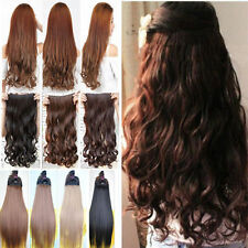 New Full Head Clip In Hair Extension Hair Brown Blonde  For Lady Human Made Hair