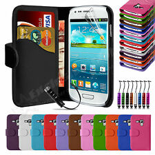 Book Flip Leather Wallet Case Cover Protector For SAMSUNG Galaxy S3 Mini i8190