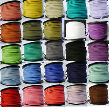 Multi Colors Choice Korea Faux Suede Flat Leather Cord Lace - String 3mm×1.5mm