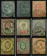 GB Edward VII used ½d to 4d. Choice of Towns or Villages FREE UK POST