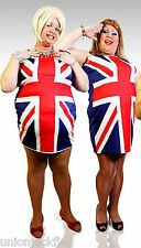 Mens Union Jack Spice Girls Dress XL -  XXL Fancy Dress Outfit - Halloween