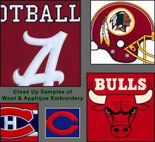 "Choose Your NCAA A-L Team 8 x 32"" Embroidered Wool Heritage Vertical Banner Flag"