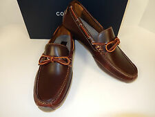 NEW COLE HAAN MOTOGRAND BURGUNDY LEATHER UPPER COMFORTABLE CAMP MOCASSINS