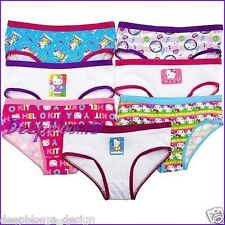 HELLO KITTY SET 7 PACK BRIEF HIPSTER UNDIES UNDERWEAR GIRLS SZ 4 6 8 10 14 NEW