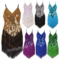 Deco Gatsby 1920s Water Drops Sequins Fringe Sway Flapper Sway Dress