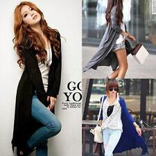 Womens Cardigan Loose Long Sleeve Knit Sweater Coat Jumper Outwear Tops Jacket