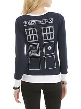 NEW  Doctor Who Tardis Cardigan Sweater Top Shirt ( DR WHO)