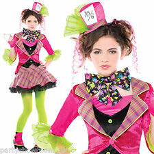 Girls TEEN Mad Hatter Fairy Tale World Book Week Fancy Dress Costume + Tights