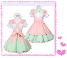 CUTE Japanese Girl Maid UNIFORM Cosplay lolita Costume OUTFIT NEW FOR Halloween