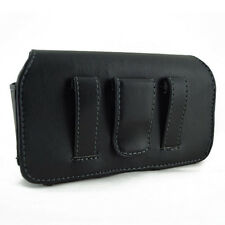 Cell Phone Leather Cover Carrying Case Pouch Side Clip Holster - NEW