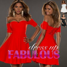 NEW SEXY OFF SHOULDER DRESS Size 6 8 10 HOT PARTY EVENING DANCE DRESSES CLOTHING