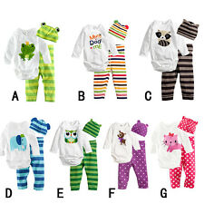 boy girl Baby clothes Baby climb clothes three-piece suit jumpsuit 6-24 months