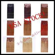 USA STOCK! Deluxe 22 inch Indian Remy Human Hair Clip In Extensions 9pcs & 200g