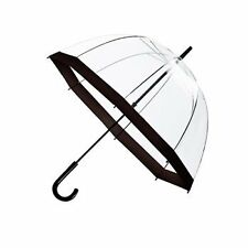 Large Dome Umbrella Clear plastic Bubble Easy Open See through Brolly New