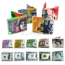HOT Currency Notes Pattern Pound Dollar Purse Wallet GBP 20/Euro 50/USD 100