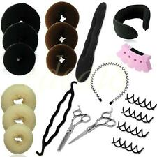 Hair Bun Styling Clip Pins Headband Tools Sponge Hair Braider Hairderssing Set