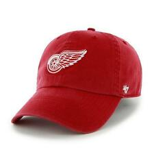 Detroit Red Wings 47 Brand Franchise Fitted Curved Bill NHL Baseball Hat Red NEW