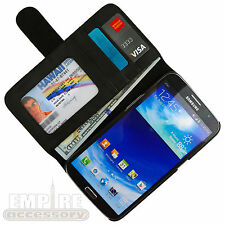 For Samsung Galaxy Mega 6.3 [Wallet Hybrid] Leather Hard Case Cover Credit Card