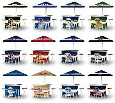 Choose Your NFL Team L-Shaped Tailgate Portable Party Bar w/ 4 Stools & Umbrella