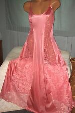 Coral Long Nightgown Floral Lace Panels 1X 2X 3X 4X Womens Plus Size Gowns