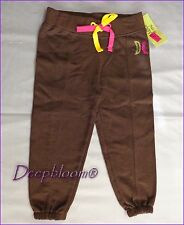 HURLEY LONG PANTS GIRLS ATHLETIC SWEATPANTS 12 18 MONTHS BROWN NEW
