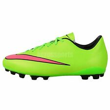 Nike JR Mercurial Victory V AG Green Pink 2014 Youth Boys Soccer Shoes Cleats