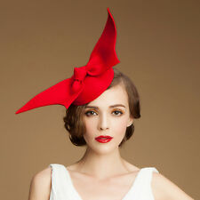 "A194 ""Angel Wings"" Ladies Felt Wool Fascinator Cocktail Formal Race Wedding Hat"