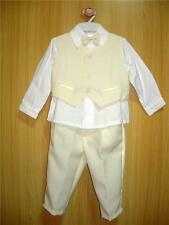 BABY BOY OUTFIT, Cream / Ivory Suit, Christening, Wedding, Age 0-3 Years Old