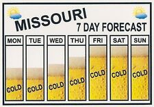 Funny Sign Refrigerator Magnets- 7 Seven Day Weather Forecast - Cold Beer States
