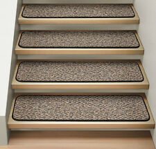 Set of 12 ATTACHABLE Carpet Stair Treads BLACK RIPPLE runner rugs