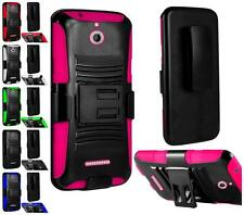 For HTC Desire 510 Hybrid Tuff SideStand Holster Armor Cover Case + Screen Guard