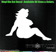 Naked MUDFLAP Girl Decal Funny I love Fat Thick Sexy Rockabilly/Hipster Sticker