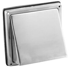 Stainless Steel Cowled External Extractor Wall Air Vent Outlet 100 125 150mm