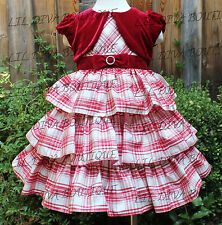 NWT JONA MICHELLE GIRLS SPECIAL OCCASION HOLIDAY CHRISTMAS DRESS 12 18 M 2T 3T 4